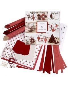 Weaving and Folding Decoration Kit, red, white, 1 set