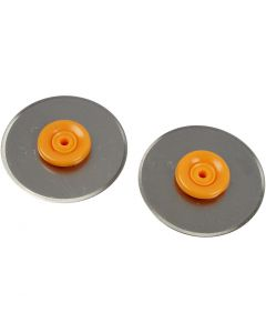 Rotary Blades for Fiskars Rotary Paper Trimmer, D: 28 mm, 2 pc/ 1 pack