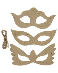 Masks, H: 5+8 cm, W: 18 cm, 3x10 pc/ 1 pack