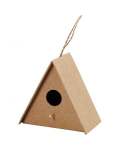 Bird House, H: 10 cm, size 10x6 cm, 1 pc