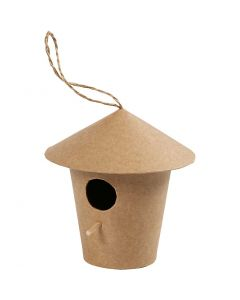 Bird House, H: 10,5 cm, size 10,5x11 cm, 1 pc