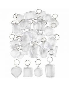Key Rings, size 40-50 mm, 100 pc/ 1 pack