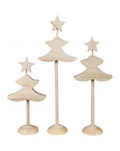 Christmas Trees, H: 26 cm, 3x2 pc/ 1 pack