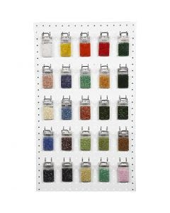 Rocaille Seed Beads, assorted colours, 50x25 g/ 1 pack
