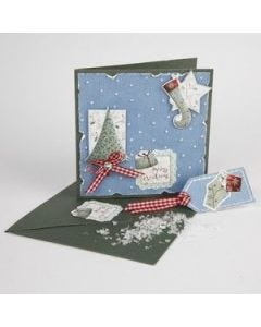 A Greeting Card with Die-Cut Card Embellishments