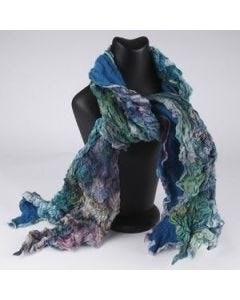 Silk scarf with a curly effect