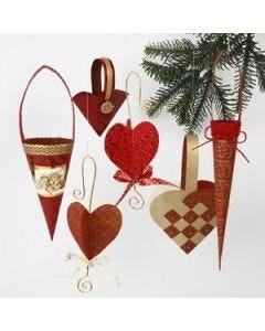 Christmas hangings in exclusive paper