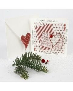 A Christmas card made in paper from the Copenhagen series