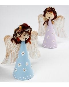 Angels on Papier-Mâché Cones