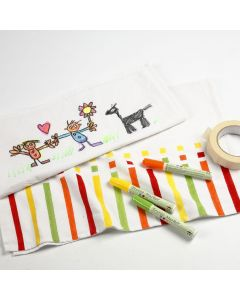 Tea Towels with Drawings