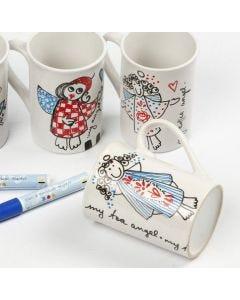Decorated Porcelain Mug