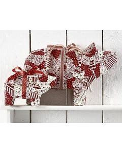 Pigs with Paper and Ribbon