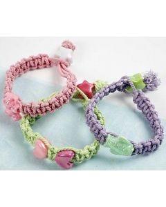 Macramé Pastel Bracelets