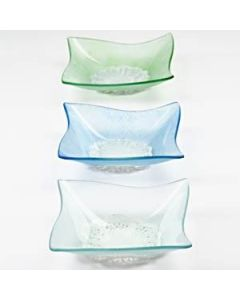 Frosted glass bowls