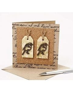A Recycled Greeting Card with Birds