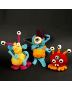 Funny woollen Monsters