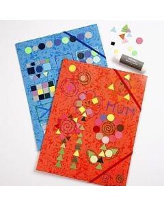 Flap Elasticated Folders with Mosaic Decoration