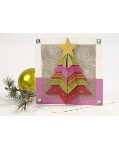 A Card with a Folded Christmas Tree