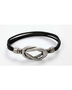 A Leather Bracelet with a Magnetic Clasp