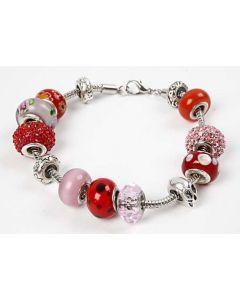 Glass Charm Beads on a Bracelet
