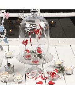 Canes and Hanging Heart Decorations from Silk Clay
