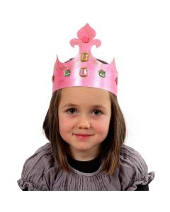 A Card Crown decorated with Rhinestones