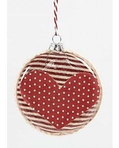Flat Glass Baubles with Fabric Decoupage