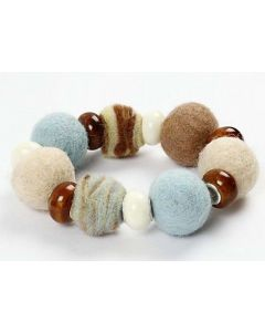 A Bracelet with Wool and Ceramic