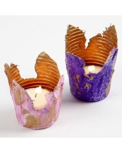 Gauze Bandage Tealight Candle Holders