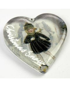 A Decorated Glass Heart