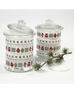 Glass Jars with Masking Tape