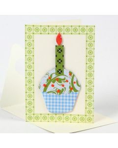 A Greeting Card with a Cup Cake