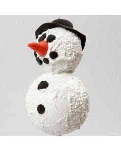 A Snowman using polystyrene balls and modelling paste