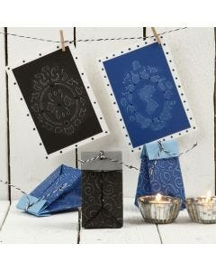Embossed Greeting Cards with an rustic Look