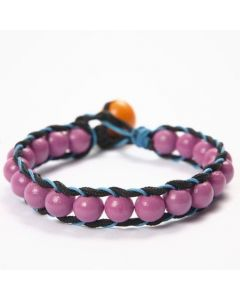 A Bracelet with Wooden Beads