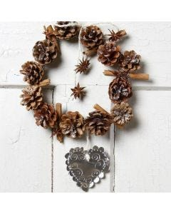 A Christmas Wreath from Pine Cones