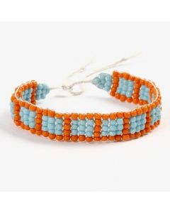 A Bracelet woven on a Bead Loom