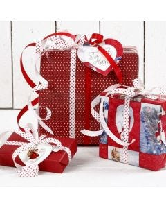 Christmas Gift Wrapping in Red and White