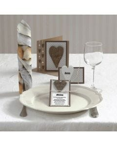 A Party Invitation and Card with a Bark Heart and Half-pearls