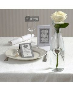 A Party Invitation and Cards with Galvanised Hearts