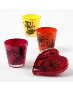 Glass decorated with Glass Ceramic Paint