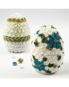A Papier-Mâché Egg decorated with Quilling
