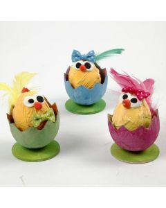 Easter Chicks in Egg Shells