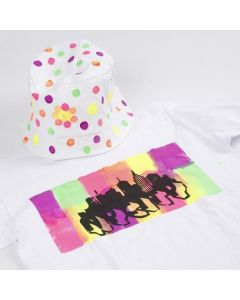 A T-Shirt decorated with Neon Textil Color Fabric Paint