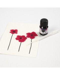 Watercolour on Straw Silk Paper