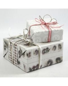 """Gift Wrapping using Vivi Gade """"Skagen"""" Design Wrapping Paper"""