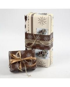 "Gift Wrapping using Vivi Gade ""Oslo"" Design Wrapping Paper"