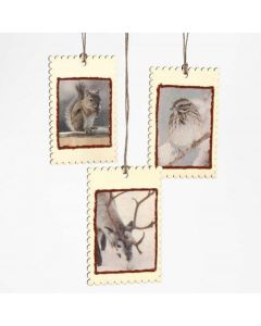 Small Wooden Hanging Signs with Decoupage Paper