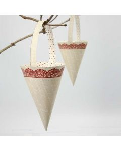 A Punched-Out Cone made from Vivi Gade Design Paper