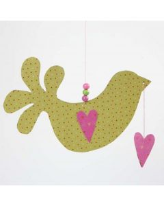 A Helsinki Design Paper Bird with Hearts